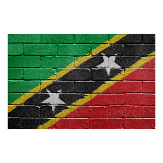 Flag of the Federation of Saint Kitts and Nevis Poster