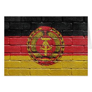 Flag of the former German Democratic Republic Card