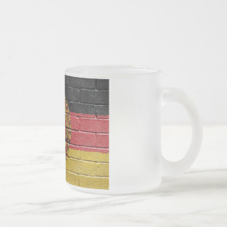 Flag of the former German Democratic Republic Frosted Glass Coffee Mug
