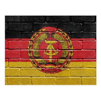 Flag of the former German Democratic Republic Postcard
