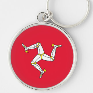 Flag of the Isle of Man Keychain