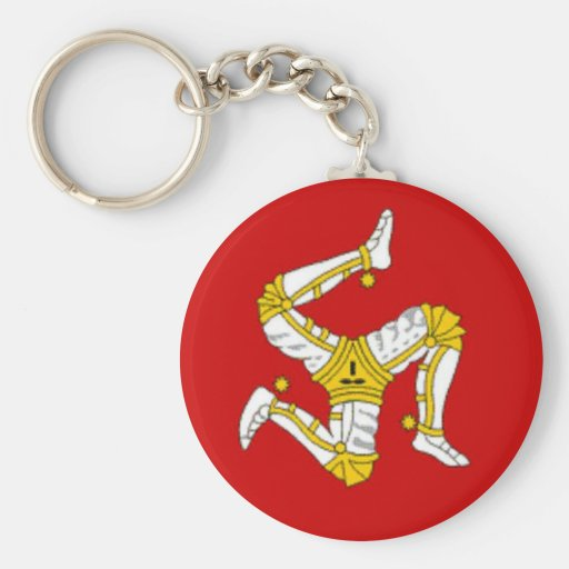 Flag of  the Isle of Man Keychains