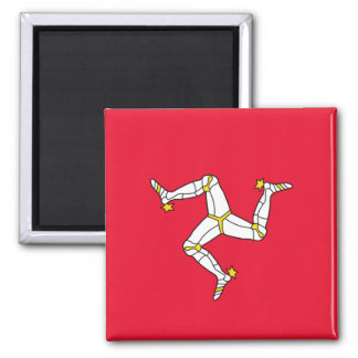 Flag of The Isle of Man 2 Inch Square Magnet