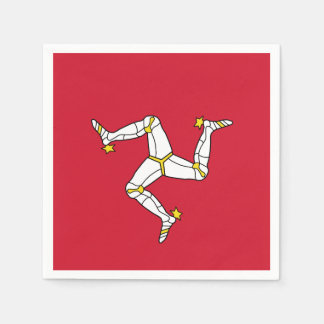 Flag of  the Isle of Man Paper Napkins