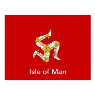 Flag of  the Isle of Man Postcard