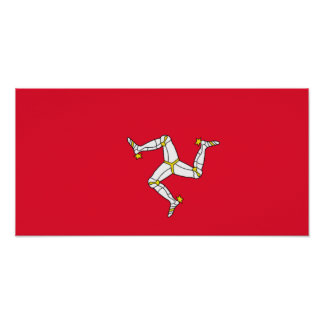 Flag of the Isle of Man Poster
