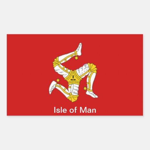 Flag of  the Isle of Man Rectangular Sticker