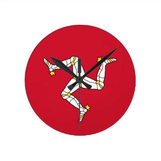 Flag of  the Isle of Man Wall Clock