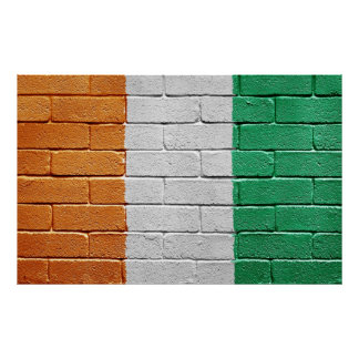 Flag of the Ivory coast Poster
