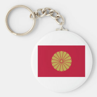 Flag of the Japanese Emperor Basic Round Button Keychain