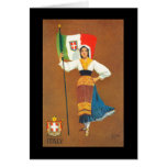 Flag of the Kingdom of Italy Greeting Card