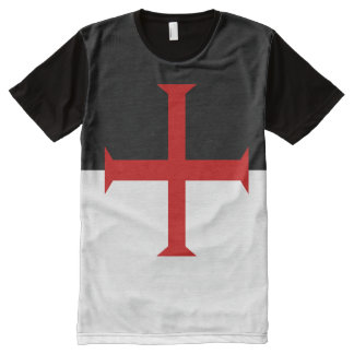 Flag of the Knights Templar All-Over-Print T-Shirt