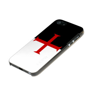 Flag of the Knights Templar Metallic Phone Case For iPhone SE/5/5s