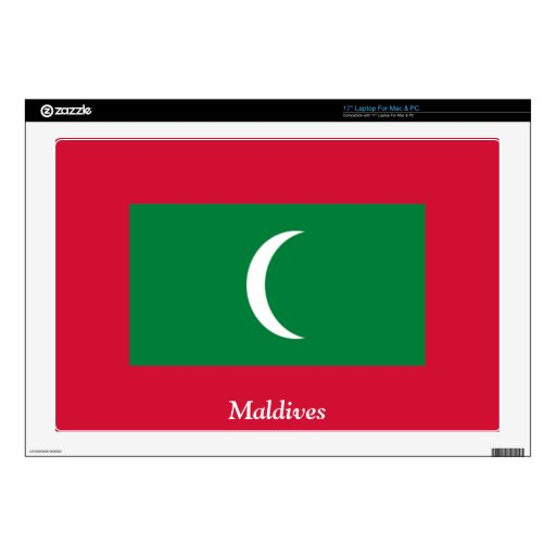 Flag of the Maldives Decals For Laptops