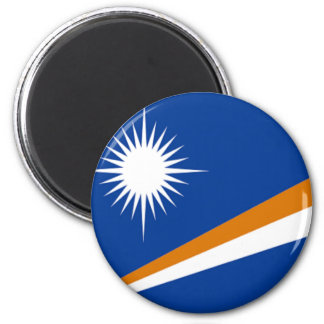 Flag of the Marshall Islands 2 Inch Round Magnet