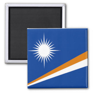 Flag of the Marshall Islands 2 Inch Square Magnet