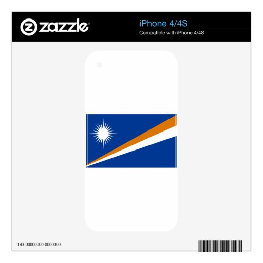 Flag of the Marshall Islands Decal For The iPhone 4