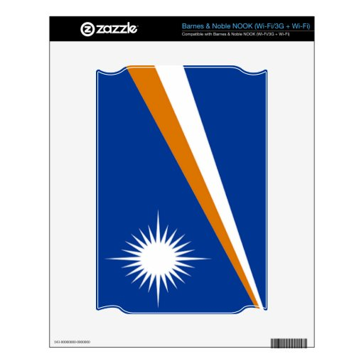 Flag of the Marshall Islands Skin For NOOK