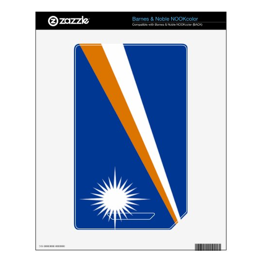 Flag of the Marshall Islands Skins For The NOOK Color