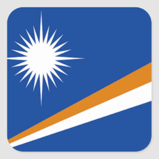 Flag of the Marshall Islands Square Sticker
