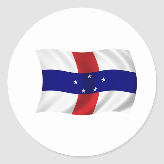 Flag of the Netherlands Antilles Classic Round Sticker