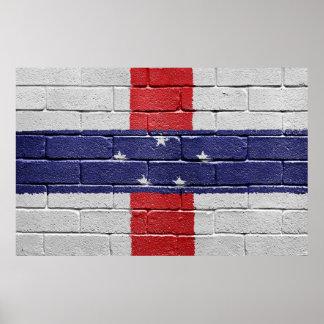 Flag of the Netherlands Antilles Poster
