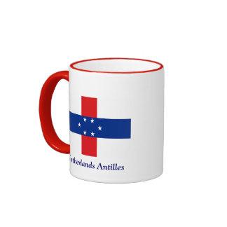 Flag of the Netherlands Antilles Ringer Mug