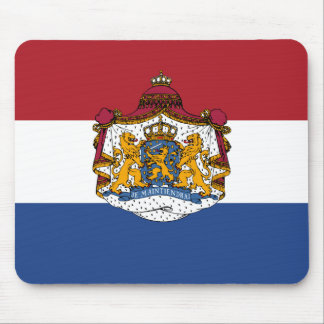 Flag of The Netherlands Coat of Arms Mousepad