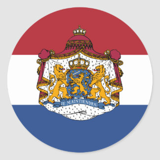 Flag of the Netherlands Coat of Arms Stickers
