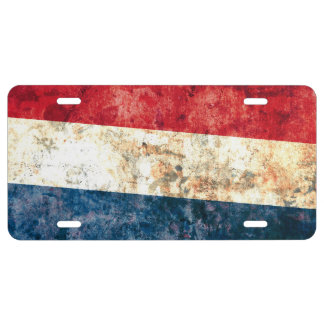 Flag of the Netherlands License Plate