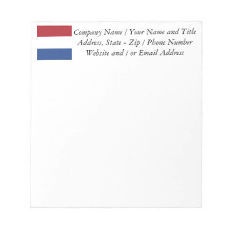Flag of the Netherlands Notepad