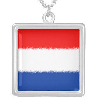 Flag of the Netherlands Square Pendant Necklace