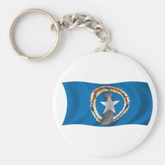 Flag of the Northern Mariana Islands Basic Round Button Keychain