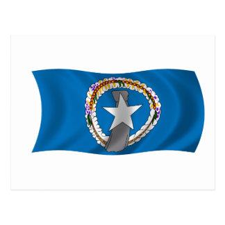 Flag of the Northern Mariana Islands Postcard