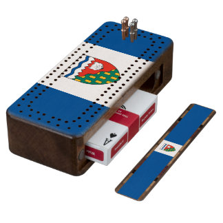 Flag of the Northwest Territories Cribbage Board