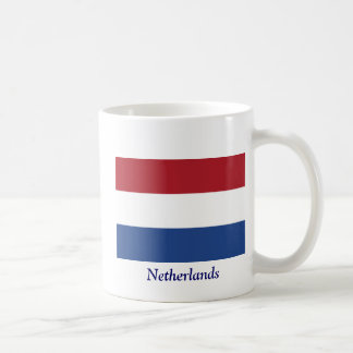 Flag of the of the Netherlands Classic White Coffee Mug