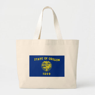Flag of the Oregon Large Tote Bag