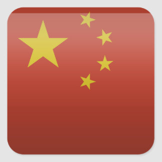 Flag of the People's Republic of China Square Sticker