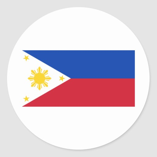 Flag of the Philippines Classic Round Sticker