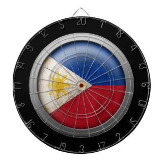 Flag of The Philippines Disc Dartboard With Darts