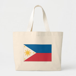 Flag of the Philippines Large Tote Bag