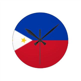 Flag_of_the_Philippines Round Clock