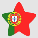Flag of the Portugal Star Sticker