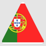 Flag of the Portugal Triangle Sticker