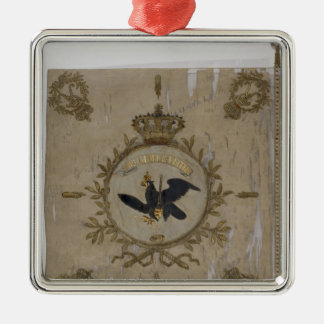 Flag of the Prussian Infantry Square Metal Christmas Ornament