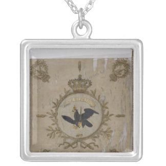 Flag of the Prussian Infantry Square Pendant Necklace