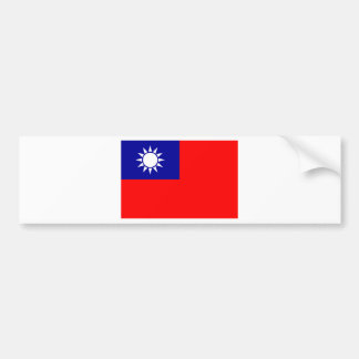 Flag of the Republic of China (Taiwan) - 中華民國國旗 Bumper Sticker