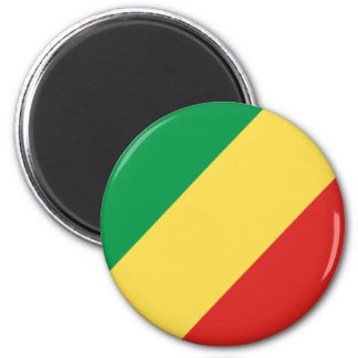 Flag of the Republic of the Congo Refrigerator Magnet