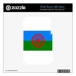 Flag of the Romani people - Romani flag Decals For iPod Touch 4G