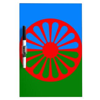 Flag of the Romani people - Romani flag Dry Erase Board